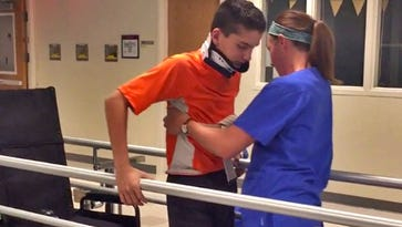 Doctors at Riley thought boy might never walk again. He surprised them.