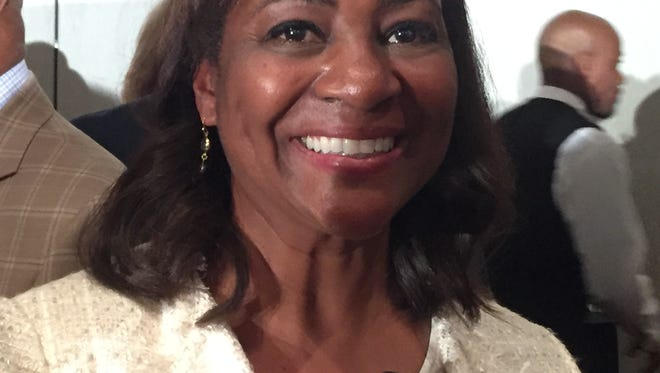 La June Montgomery Tabron, president and CEO of the W.K. Kellogg Foundation, at the Detroit Economic Club on July 17, 2017.