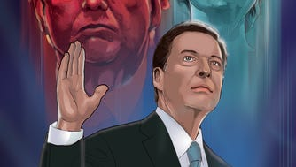 """Former FBI Director and local hometown hero in Allendale, James Comey, got the comic treatment  and features his """"origin story."""""""