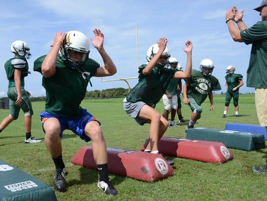Viera High Football Practice