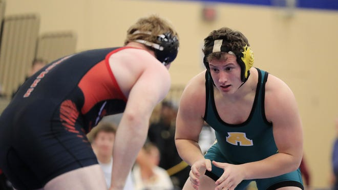 Senior Daniel Cole was one of five Ashwaubenon wrestlers to go 5-0 on Saturday at the Grafton Duals. The Jaguars won the team title by going 5-0 at the event.