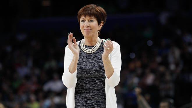 Muffet McGraw and Notre Dame face UConn in Friday's second semifinal at the Final Four in Columbus, Ohio.