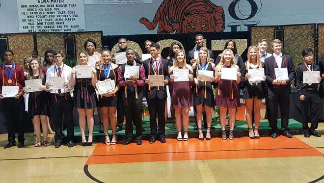 Opelousas High School seniors were recognized in an honor's ceremony May 11.