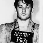 Jim Morrison's infamous 1963 jailhouse mugshot.