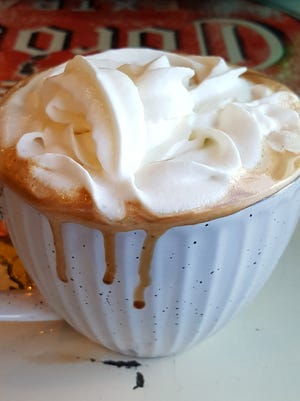 The Peppermint Mocha ($4) served at The Bean Café of Mesilla.
