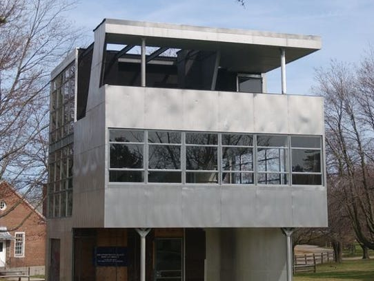The Aluminaire House designed by Albert Frey.