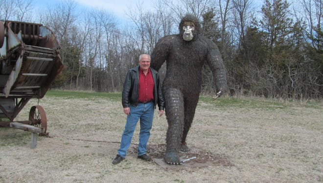 """Sasquatch"" by D. Lewis is one of the selections for the 2018 SculptureWalk in downtown Sioux Falls."