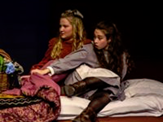 "Catherine Enslen and Talia Speak in Wilmington Drama League's ""A Little Princess."""