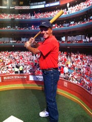Evansville native Randy Demarest was motivated to get into shape after this photograph was taken of him before a St. Louis Cardinals game in July 2016.