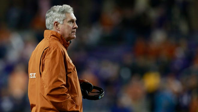 Mack Brown's job status at Texas has been a big part of the discussion as the Longhorns prepare to face Oregon in the Alamo Bowl.