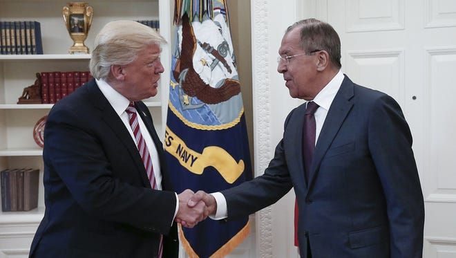 President Trump and Russian Foreign Minister Sergei Lavrov on May 10, 2017.