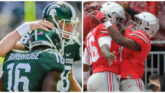 Michigan State and Ohio State appear to be by far the class of the Big Ten. Right now, according to AP voters, they're also the class of all of college football.