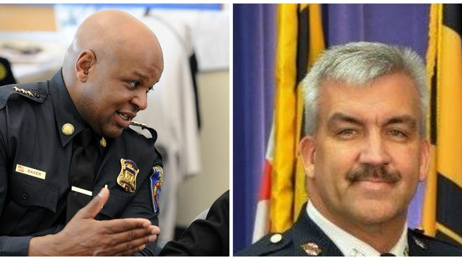 Framingham Deputy Police Chief Lester Baker (left) and Baltimore Police Major/Commander James Rhoden Jr. (right) are the finalist for the Framingham Police Chief position.