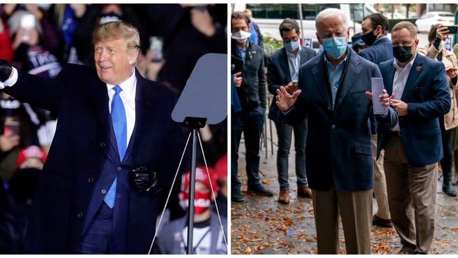 President Donald Trump and Democratic nominee for president Joe Biden out of the campaing trail in earlier this month.