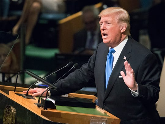 President Trump speaks during the 72nd session of the