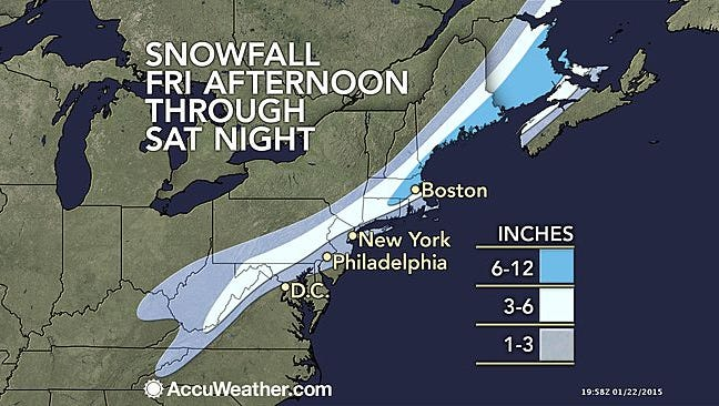 Snowfall for Friday afternoon through Saturday night.