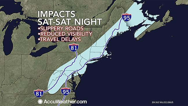 Impact of the storm Saturday.