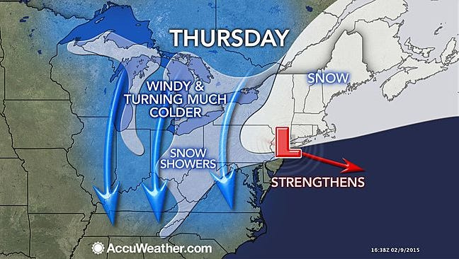 AccuWeather.com prediction for later this week.