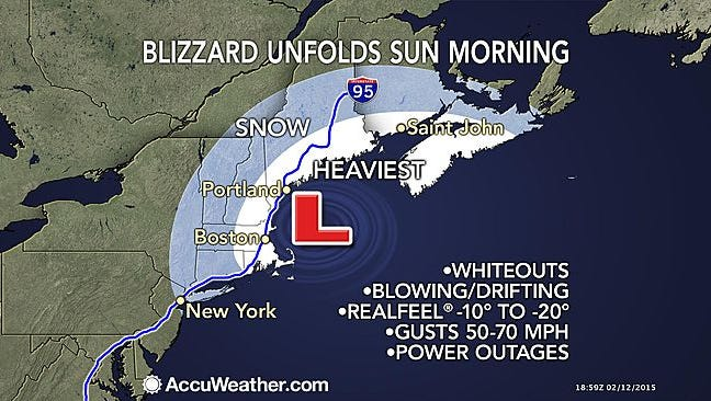 AccuWeather.com warns of more snow on the way.