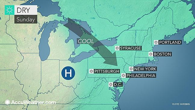 The cool temperatures of fall will end this weekend along with dryness.
