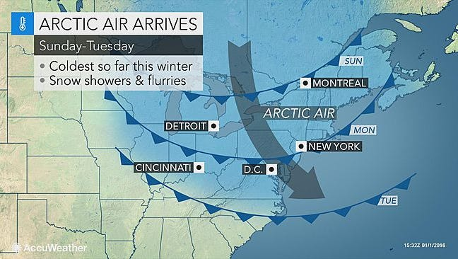 Colder air comes to the central Pennsylvania region this weekend.