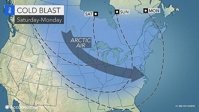 After warmer days Friday and Saturday, colder air will hit central Pennsylvania starting Sunday.