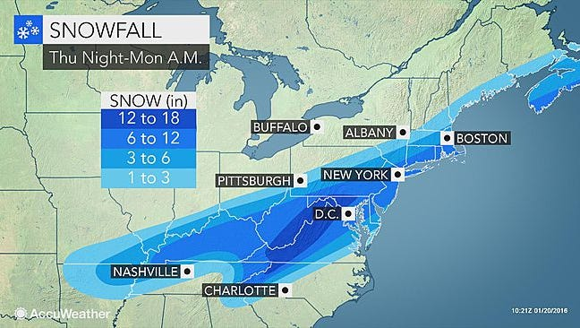 A major snow storm could threaten the D.C. region over the weekend.