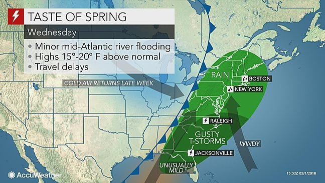 Early this week we'll see some nice spring conditions.
