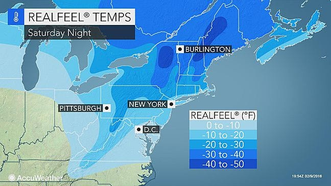 Very cold temperatures will come to the region this weekend.