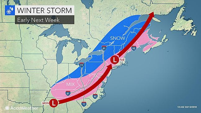 Expect temps in the teens Saturday, but the windchill will make it feel even colder, according to AccuWeather.com