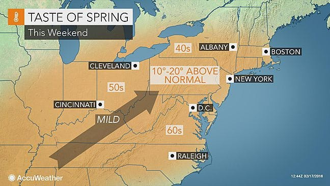 Warmer temperatures will arrive this weekend.