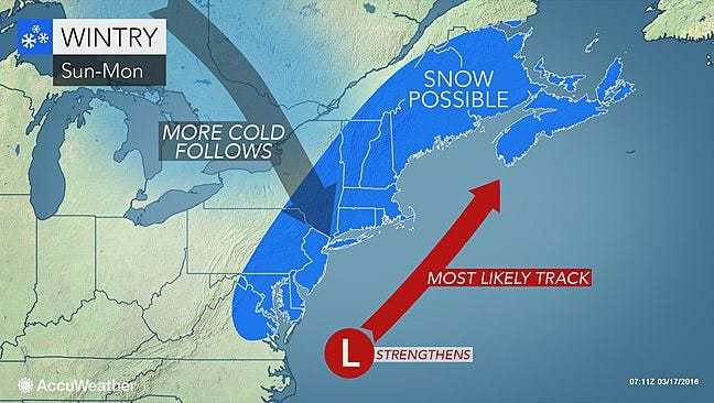 The first day of spring could start with snow in the Lower Hudson Valley.