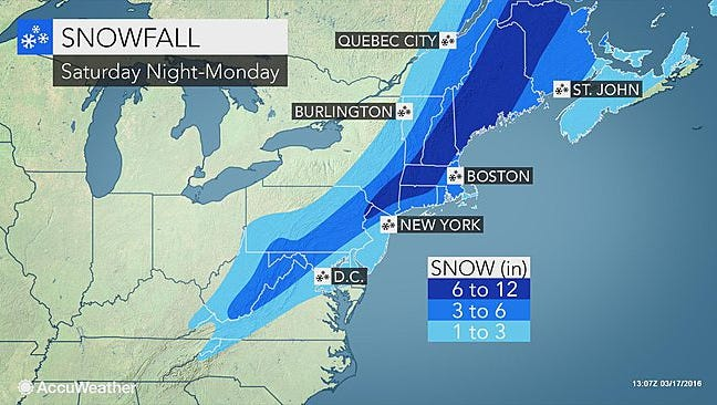 Snow is expected to hit the region late Saturday night.