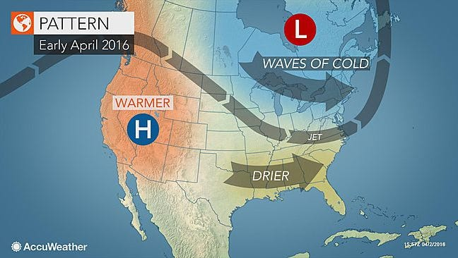 Cold weather won't disappear from the northeastern United States until the middle of April, according to Accuweather.com.