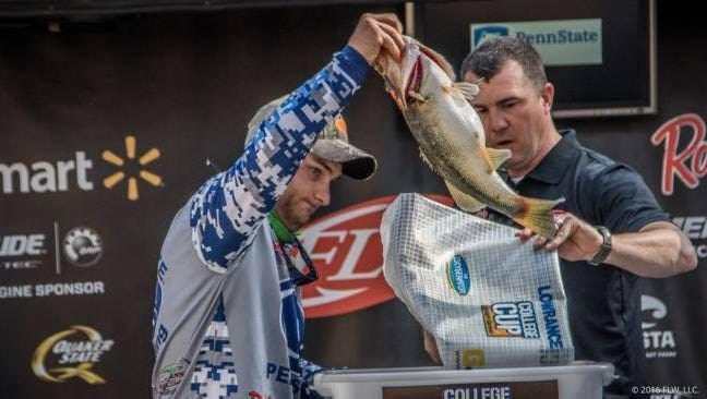 Pine Grove native Tyler Smith, left, recently represented the Penn State Bass Club during PSU's first-ever appearance in the FLW College Fishing National Championship.