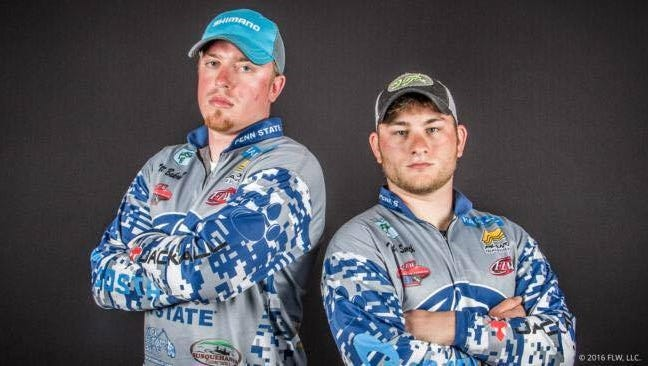 Penn State's Matt Bakewell, left, and Tyler Smith became the first Nittany Lion bass anglers to compete in the FLW College Fishing National Championship.