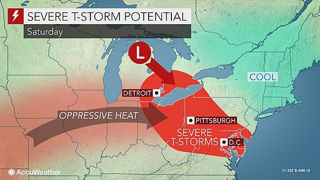 Though today and tomorrow will be nice, there's a chance for severe thunderstorms on Saturday.