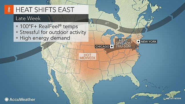 Temperatures are expected to be in the 90s this weekend in York County, AccuWeather.com meterologist Carl Erickson said. The mercury will climb into the upper 90s on Sunday and Monday.