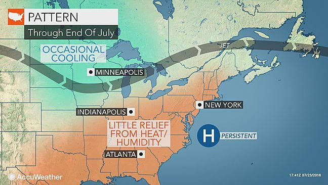The unrelenting heat will continue today in the southcentral Pennsylvania region.