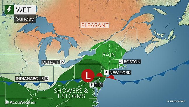 York County can expect to see more rain today and tomorrow.
