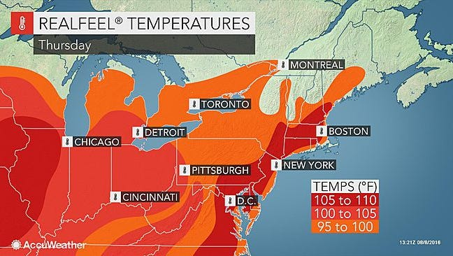 Hot, humid conditions and scattered thunderstorms are expected to hit the Lower Hudson Valley for several days.