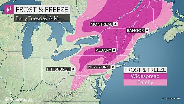 Frost advisory.