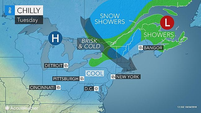 Cold, brisk conditions are expected to hit the Lower Hudson Valley this week.