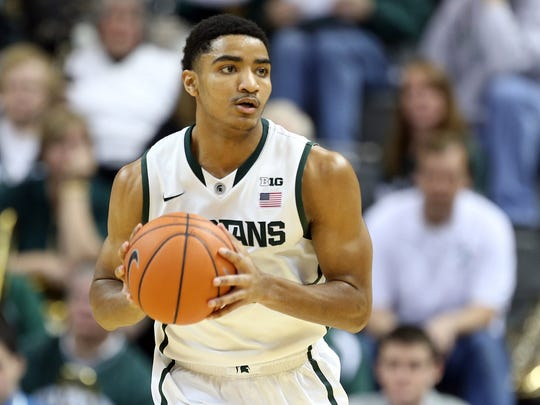 Gary Harris during his college career at Michigan State