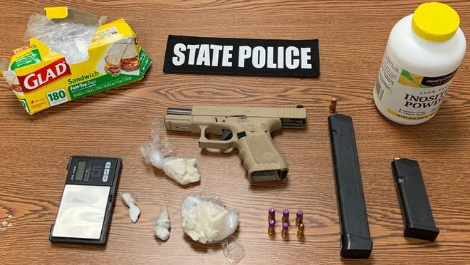 State police detectives assigned to the Plymouth County district attorney's office say they seized a gun, fentanyl and crack cocaine and arrested Kodie Conway, 23, of Brockton, during a raid, Tuesday, Sept. 29, 2020.
