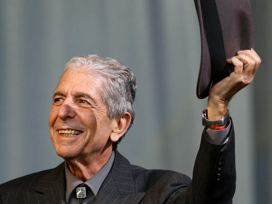 Canadian poet Leonard Cohen performs at