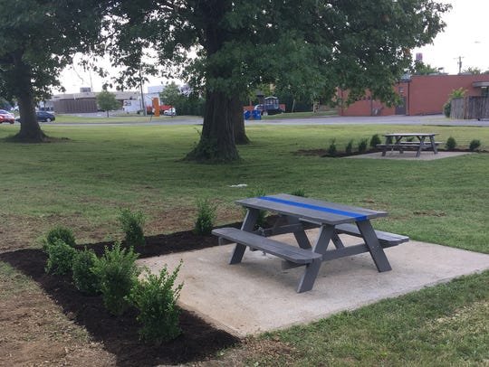 Hendersonville police now have a new picnic area thanks