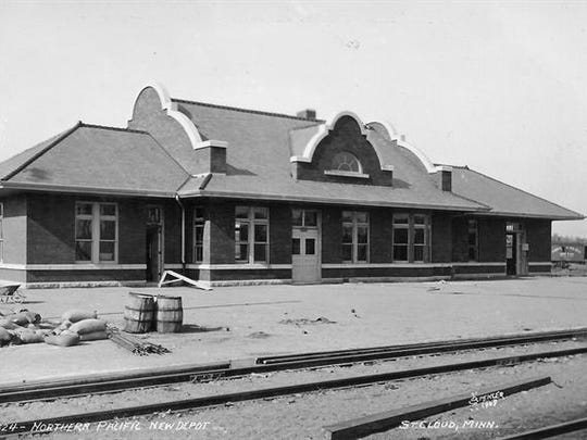 The Northern Pacific Depot in 1909.