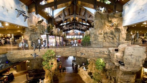 BASS PRO SHOPS OUTDOOR WORLD: Visiting Bass Pro Shops Outdoor World is an air-conditioned adventure. In addition to the expansive fishing, boating and camping departments there are fish, bird and mammal displays. Frequent kids' events include an outdoor kids night featuring a live fish feed, archery target practice and laser arcade.
