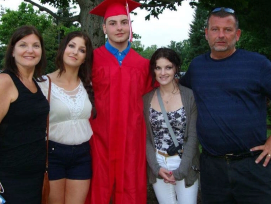 Nikki, second from right, with her family.